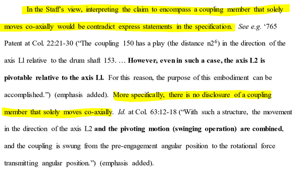 Extract from Staffs Brief ITC 1106 P25 072719