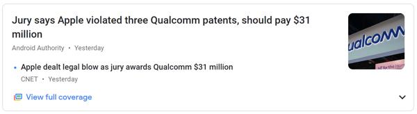 Apple Vs. Qualcomm Patent Dispute